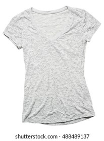 Gray women's t shirt on white