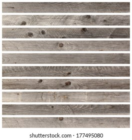 gray wooden boards isolated on white for your design