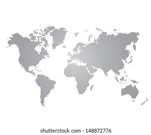 Gray blank vector world map isolated vectores en stock 418128811 gray world map on white background gumiabroncs Image collections