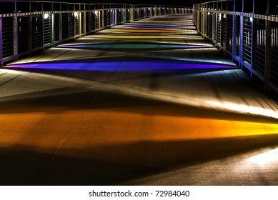 Gray's Lake Parks Colorful Bridge