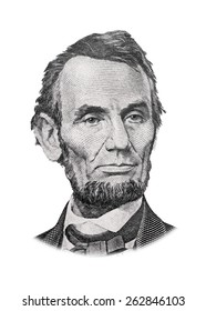 Grayscale Drawing of US President Abraham Lincoln