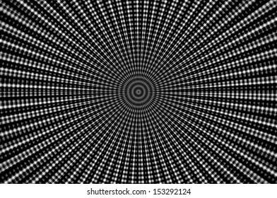 Grayscale grace. radial pattern background.