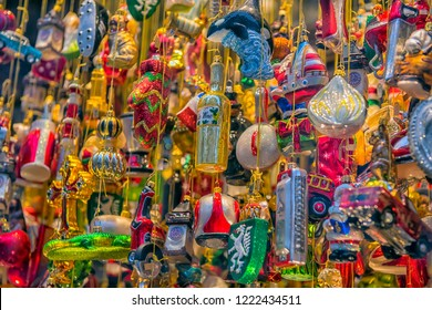 GRAZ, AUSTRIA - 06.01.2018  Christmas decoration shop in Graz, Styria, Austria