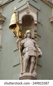 GRAZ, AUSTRIA - JANUARY 10, 2015: Saint Florian at the corner of Jungferngasse and Herrengasse, Graz, Styria, Austria on January 10, 2015.