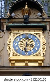 GRAZ, AUSTRIA - JANUARY 10, 2015: Glockenspiel clock in Graz, Styria, Austria on January 10, 2015.