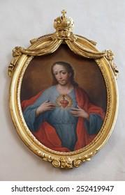 GRAZ, AUSTRIA - JANUARY 10, 2015: Sacred Heart of Jesus, Franciscan Church in Graz, Styria, Austria on January 10, 2015.