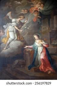 GRAZ, AUSTRIA - JANUARY 10, 2015: Annunciation of the Virgin Mary, Franciscan Church in Graz, Styria, Austria on January 10, 2015.