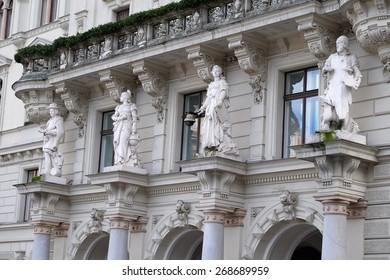GRAZ, AUSTRIA - JANUARY 10, 2015: City Hall from Graz the capital city of Styria in Austria on January 10, 2015.