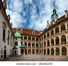 GRAZ, AUSTRIA - JUN, 2018: Landhaus, the residences of the federal state parliament of Styria. Graz is the capital of federal state of Styria and the second largest city in Austria