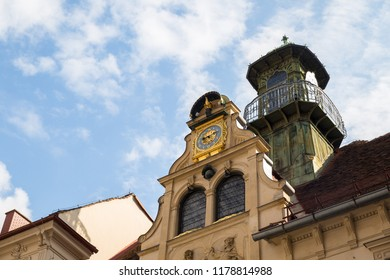 GRAZ, AUSTRIA – MAY 25, 2018: Beautiful view of old town in Graz with amazing buildings