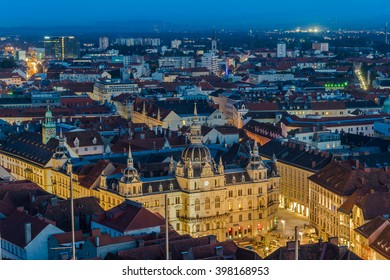 Graz main square from above