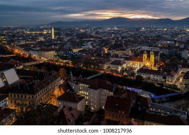 Graz Skyline at Sunset
