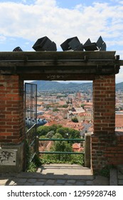 Graz, Styria / Austria 07.16.2017: Beautiful view of the city Graz in Austria.