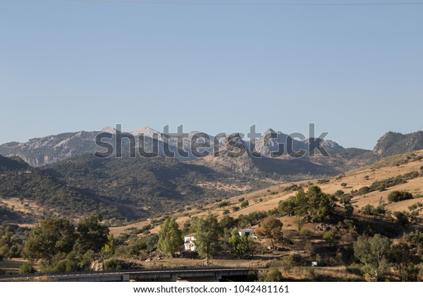 Grazalema mountain landscape Cadiz province Andalusia Spain