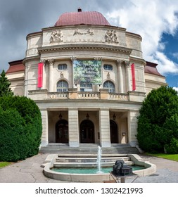 Graz,Austria-JULY,2018:Beautiful panoramic view of Graz Opera or Opera House in Graz,Graz,Austria