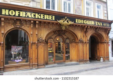 Graz,Austria-May 5,2018:Beautiful panoramic view of the oldest bakery in Graz,Graz is the second largest city in Austria,Graz,Austria