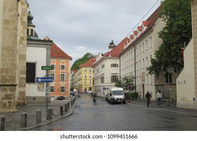 Graz,Austria-May 5,2018:Beautiful view of city of Graz.Graz is second largest city in Austria and capital of federal state of Styria,Graz,Austria