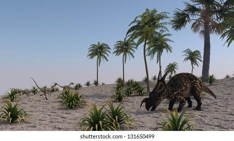 grazing einiosaurus