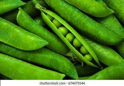 Grean peas as natural  food background