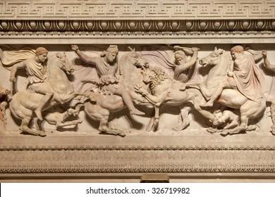 Great Alexander's Sarcophagus Detail, Istanbul
