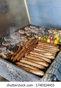 Great Australian barbecue with sausages and burgers