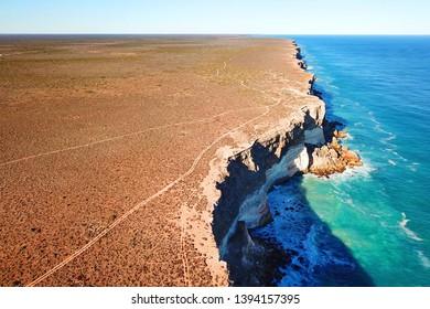 Great Australian Bight, one of the longest sea cliffs in the world