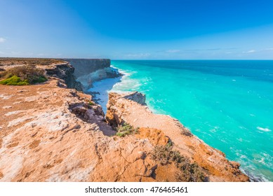 The Great Australian Bight is an open bay, on the coastline of South and Western Australia. The longest curve line of sea cliffs in the world.