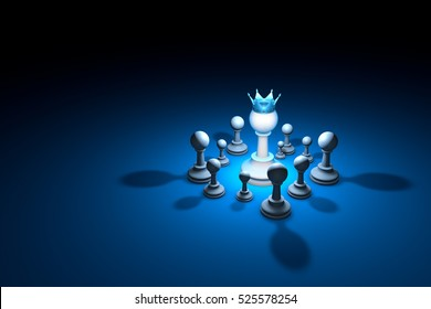Great authority. Leader. Great authority. Leader. Chess composition. Available in high-resolution and several sizes. Background layout with free text space. 3D illustration render