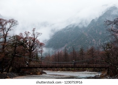 great autumn season colorful leaf and beautiful landscape in kamikochi, japan