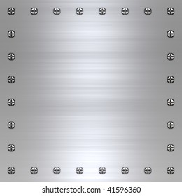 great background image of brushed steel or alloy with screws