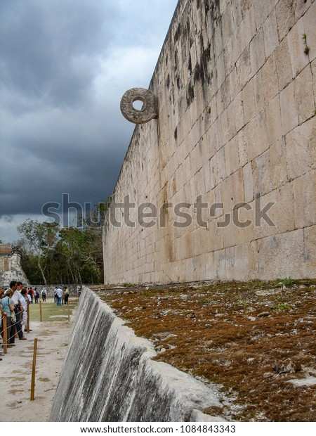 The Great Ball Court at Chichen Itza, Yucutan state, Mexico