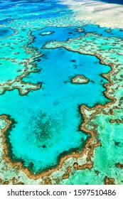 Great Barrier Reef. Heart Reef. Whitsundays. Queensland Australia