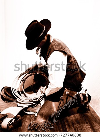 A Great Basin style of the cowboy way. Commonly known as a buckaroo. Key  things to look for in a buckaroo are the hat 6e1d47f6625