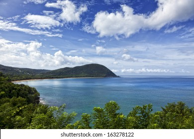 The great bay at Deshaies, Basse-Terre, Guadeloupe