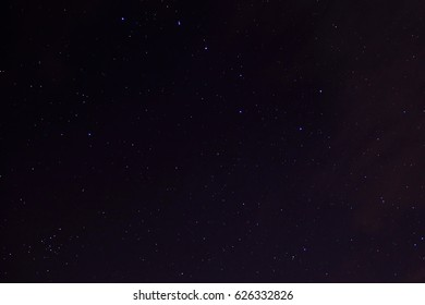 Great Bear on the sky full of stars with a little clouds with Chrome effect