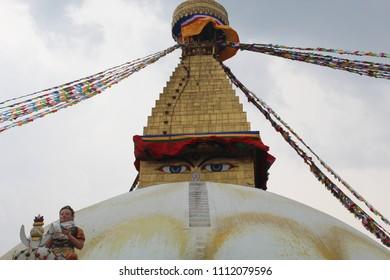 The Great Boudha Stupa in Kathmandu Nepal