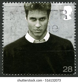 GREAT BRITAIN - CIRCA 2003: A used postage stamp from the UK, depicting an image of Prince William - future King, circa 2003.