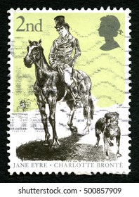 GREAT BRITAIN - CIRCA 2005: A used postage stamp from the UK, depicting an illustration dedicated to the work of Charlotte Bronte , circa 2005.