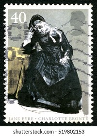 GREAT BRITAIN - CIRCA 2005: A used postage stamp from the UK, celebrating the famous 19th century novel Jane Eyre by Charlotte Bronte, circa 2005.