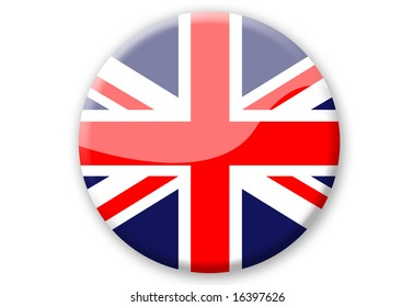 great britain flag button