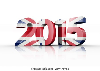 Great britain national flag against 2015