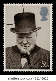 GREAT BRITTAN - CIRCA 1960: A postage stamp printed in Great Brittan showing Winston Churchill, circa 1960