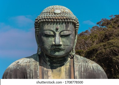 the great buddah in Kamakura, still standing after a Tsunami in the 15th century