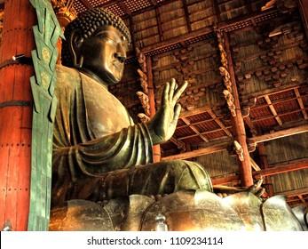 Great Buddha or Daibutsu, Todai-ji Temple or Roaming Deer its all belong to Nara city in Japan