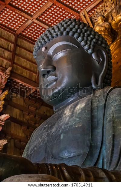 The Great Buddha (Daibutsu) at Todiaji Temple in Nara