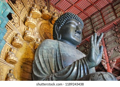 The Great Buddha (Daibutsu-Den) at Todaiji Temple, Nara Prefecture, Japan.