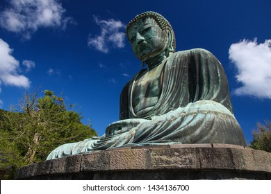 Great Buddha of Kamakura or Kamakura Daibutsu is a large bronze statue of Amida Buddha sits in the open air at Kotoku-in Temple that a World Heritage Site by UNESCO.