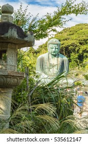 The Great Buddha in Kamakura.  Located in Kamakura, Kanagawa Prefecture Japan.