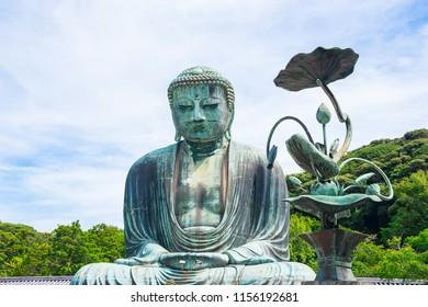The Great Buddha at Kotoku-in Temple, Hase, Kamakura, Kanagawa, Japan