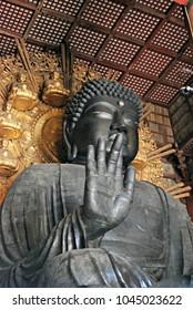 Great Buddha statue in Todai-ji temple, Nara, Japan